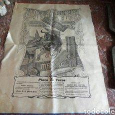 Carteles Toros: CARTEL TOROS SEDA BENEFICENCIA MADRID 1903. Lote 102104390