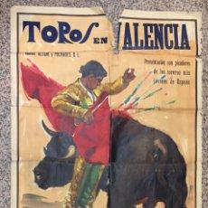 Carteles Toros: CARTEL DE TOROS GIGANTE, VALENCIA. ALEGRE Y PUCHADES S.L. 161X111 PINTO J. REUS.. Lote 102346243