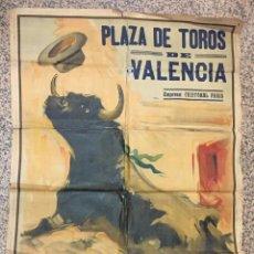Carteles Toros: CARTEL DE TOROS GIGANTE, VALENCIA. CRISTOVAL PERIS, PINTO LLOPIS 161X114. Lote 102347435