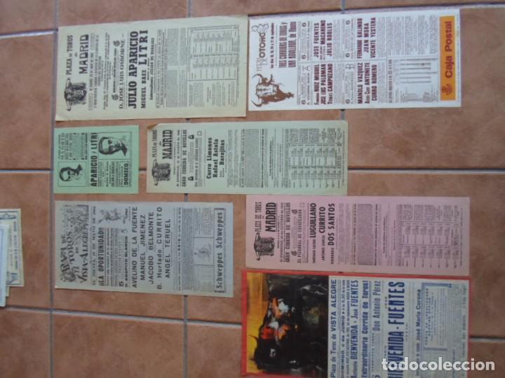 LOTE CARTELES TOROS PLAZAS COMUNIDAD DE MADRID (Coleccionismo - Carteles Gran Formato - Carteles Toros)