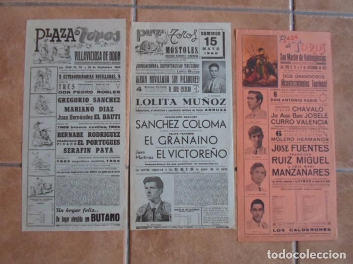 Carteles Toros: lote carteles toros plazas comunidad de madrid - Foto 3 - 102471223