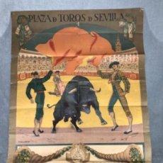 Carteles Toros: ANTIGUO CARTEL DE TOROS 5 NOVIEMBRE 1916 GALLO-GALLITO Y POSADA. Lote 105291884