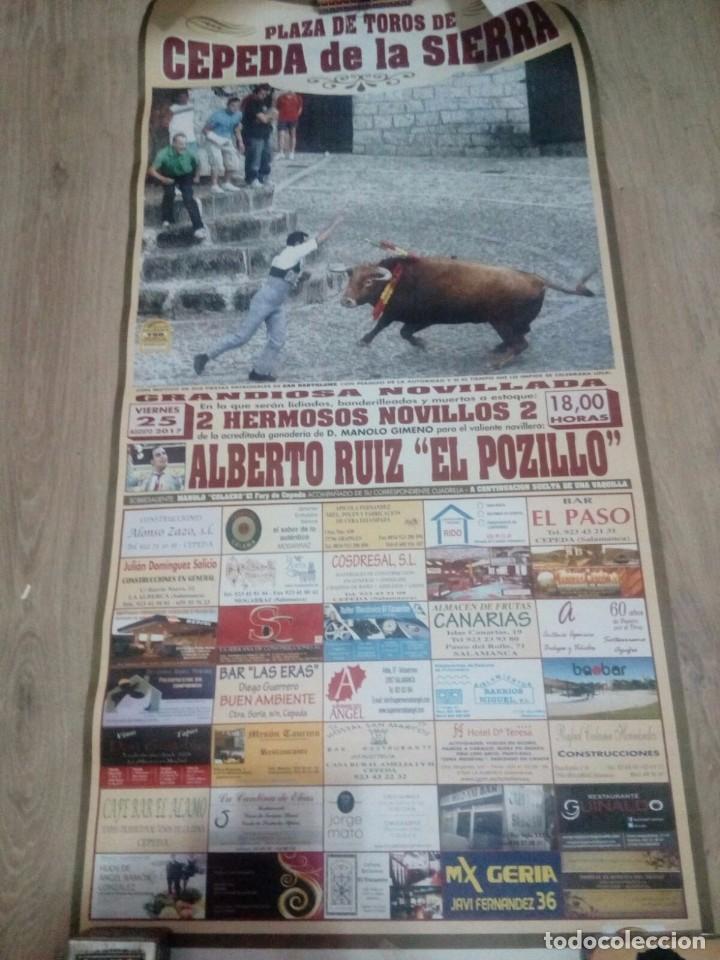 Carteles Toros: CARTEL TOROS CEPEDA DE LA SIERRA ANTONIO ROSALES - Foto 2 - 102706763