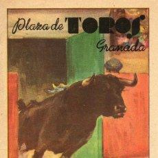 Carteles Toros: POGRAMA DE MANO PLAZA DE TOROS DE GRANADA CORPUS 1949. Lote 102731035