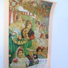 Carteles Toros: CARTEL DE TOROS EN SEVILLA ABRIL 1999 MEDIDAS 45X23 CM. Lote 102824379