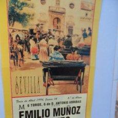 Carteles Toros: CARTEL DE TOROS EN SEVILLA ABRIL 1994 MEDIDAS 44X21 CM. Lote 102827111