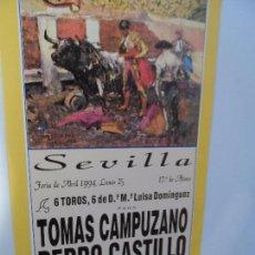 Carteles Toros: CARTEL DE TOROS EN SEVILLA ABRIL 1994 MEDIDAS 44X21 CM. Lote 102827215