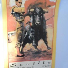 Carteles Toros: CARTEL DE TOROS EN SEVILLA ABRIL 1994 MEDIDAS 44X21 CM. Lote 102827475