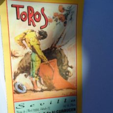 Carteles Toros: CARTEL DE TOROS EN SEVILLA ABRIL 1994 MEDIDAS 44X21 CM. Lote 102833279