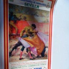 Carteles Toros: CARTEL DE TOROS EN SEVILLA ABRIL 1998 MEDIDAS 45X23 CM. Lote 102836843