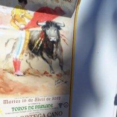 Carteles Toros: CARTEL DE TOROS EN SEVILLA ABRIL 2002 MEDIDAS 45X23 CM. Lote 102837671