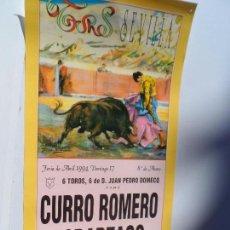 Carteles Toros: CARTEL DE TOROS EN SEVILLA ABRIL 1994 MEDIDAS 44X21 CM. Lote 102838139