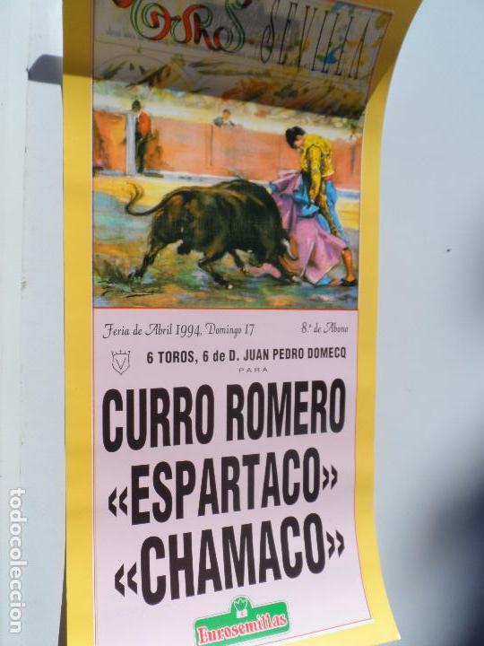 CARTEL DE TOROS EN SEVILLA ABRIL 1994 MEDIDAS 44X21 CM (Coleccionismo - Carteles Gran Formato - Carteles Toros)