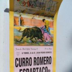 Carteles Toros: CARTEL DE TOROS EN SEVILLA ABRIL 1994 MEDIDAS 44X21 CM. Lote 102838903