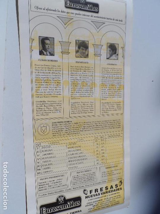 Carteles Toros: CARTEL DE TOROS EN SEVILLA ABRIL 1994 MEDIDAS 44X21 CM - Foto 2 - 102838903