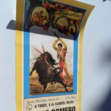 Carteles Toros: CARTEL DE TOROS EN SEVILLA ABRIL 1994 MEDIDAS 44X21 CM. Lote 102838943