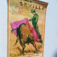 Carteles Toros: CARTEL DE TOROS EN SEVILLA ABRIL 2001 MEDIDAS 23X46 CM. Lote 102839223