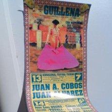 Carteles Toros: CARTEL DE TOROS DE GUILLENA 13 Y 14 SEPTIEMBRE DE 1996 MEDIDAS 34X16 CM. Lote 102841563