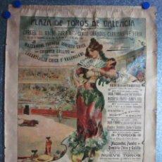 Carteles Toros: PLAZA TOROS VALENCIA FERIA. AÑO 1904. FUENTES, BOMBITA, CHICUELO, GALLITO, LAGARTIJILLO, VALENCIANO. Lote 119431262