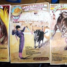 Carteles Toros: ALICANTE 1958. TRES CARTELES TOROS DE PEREZGIL. Lote 102987035