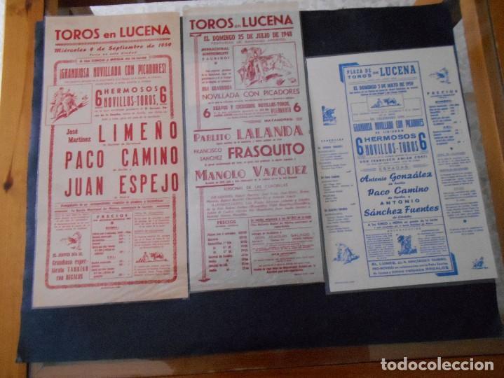 Carteles Toros: carteles de toros antiguos lote - Foto 2 - 103139311
