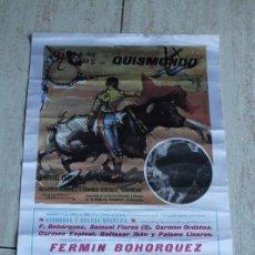Carteles Toros: CARTEL DE TOROS DE QUISMONDO. 12 DE ABRIL DE 1980. RECUERDO-HOMENAJE A DOMINGO GONZÁLEZ DOMINGUÍN.. Lote 103655851