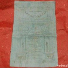 Carteles Toros: 1890 CARTEL DE TOROS DE SEDA DE MADRID BENEFICENCIA 8 DE JUNIO - LAGARTIJO CURRITO PASTOR CENTENO. Lote 103967471