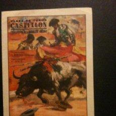 Affiches Tauromachie: PLAZA DE TOROS DE CASTELLON,FIESTAS Y FERIAS DE LA MAGDALENA 1953,ALTERNATIVA ANTOÑETE. Lote 104638991