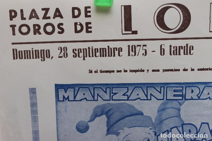 Carteles Toros: CARTEL PLAZA TOROS DE LORCA, 1975, CARTEL TOROS, Y ESPECTACULO, BANDA INTERNACIONAL LA REVOLTOSA - Foto 2 - 104816871