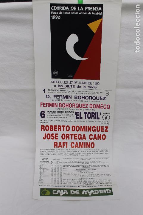 CARTEL PLAZA TOROS LAS VENTAS MADRID, CORRIDA DE LA PRENSA 1990 (Coleccionismo - Carteles Gran Formato - Carteles Toros)