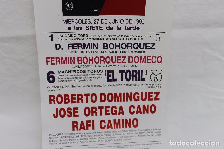 Carteles Toros: CARTEL PLAZA TOROS LAS VENTAS MADRID, CORRIDA DE LA PRENSA 1990 - Foto 2 - 104817295