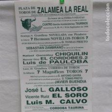 Carteles Toros: CARTEL PLAZA TOROS ZALAMEA LA REAL, FERIA DE 1990. Lote 104817735