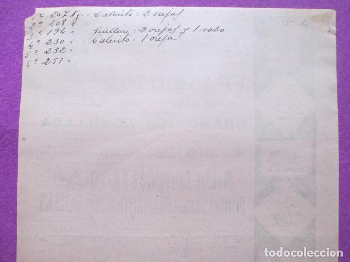 Carteles Toros: CARTEL TOROS, PLAZA VALENCIA, 1950, MANUEL CALERITO, FRASQUITO, FELIX GUILLEN, CT106 - Foto 2 - 106084871