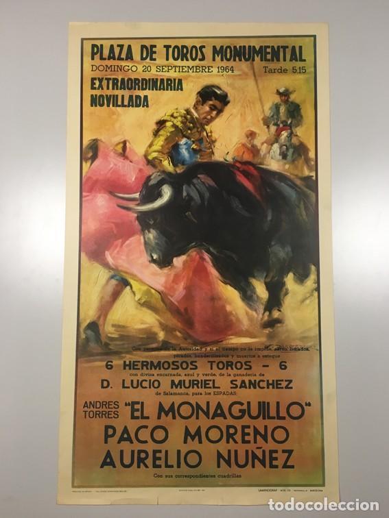 CARTEL PLAZA DE TOROS MONUMENTAL. BARCELONA (Coleccionismo - Carteles Gran Formato - Carteles Toros)