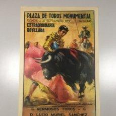 Carteles Toros: CARTEL PLAZA DE TOROS MONUMENTAL. BARCELONA. Lote 165506936