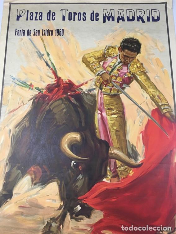 Carteles Toros: Cartel FERIA DE SAN ISIDRO. PLAZA DE TOROS DE MADRID. 1960 - Foto 2 - 106554359