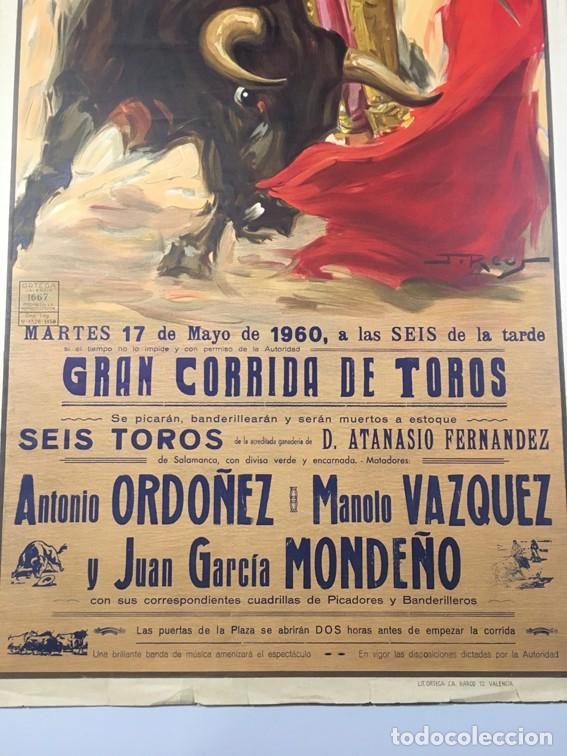 Carteles Toros: Cartel FERIA DE SAN ISIDRO. PLAZA DE TOROS DE MADRID. 1960 - Foto 4 - 106554359