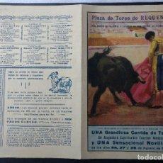 Carteles Toros: ZVCOLEC.PROGRAMA TOROS REQUENA 1950. 27X21,5CM . Lote 107559211