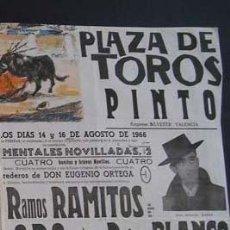 Carteles Toros: CARTEL TOROS PINTO (MADRID). Lote 108393723