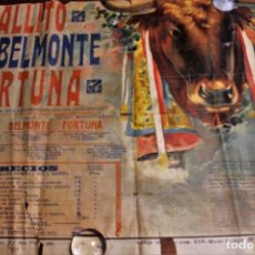 Carteles Toros: CARTEL LITOGRÁFICO GRAN FORMATO TOROS MONUMENTAL BARCELONA. GALLITO, BELMONTE, FORTUNA 1917, ÚNICO. Lote 108445367
