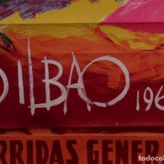 Carteles Toros: CARTEL PLAZA DE TOROS DE BILBAO 1963. Lote 108802835