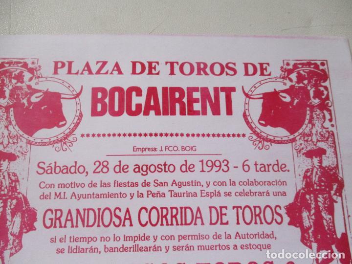 CARTEL DE TOROS DE BACAIRENT- 1993- MIDE 31X22 CM. (Coleccionismo - Carteles Gran Formato - Carteles Toros)