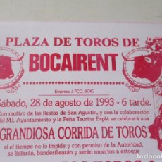 Carteles Toros: CARTEL DE TOROS DE BACAIRENT- 1993- MIDE 31X22 CM.. Lote 109032399