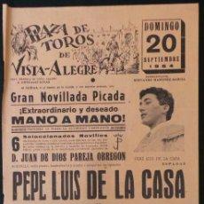 Carteles Toros: CARTEL PLAZA DE TOROS DE VISTA ALEGRE - 1964. Lote 109097671