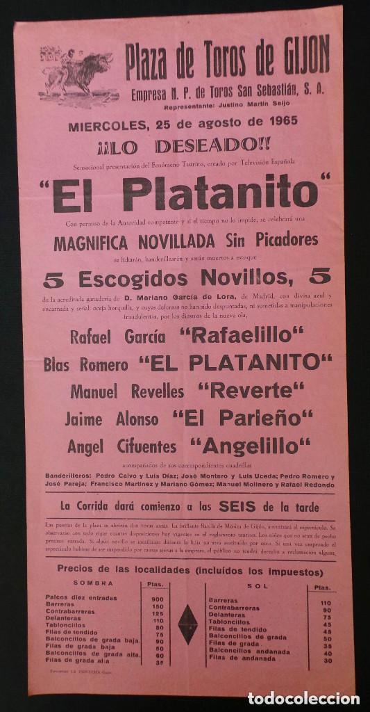 CARTEL PLAZA DE TOROS DE GIJON - 1965 (Coleccionismo - Carteles Gran Formato - Carteles Toros)