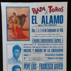 Carteles Toros: CARTEL PLAZA DE TOROS DE EL ALAMO - MADRID - 1986. Lote 109098599