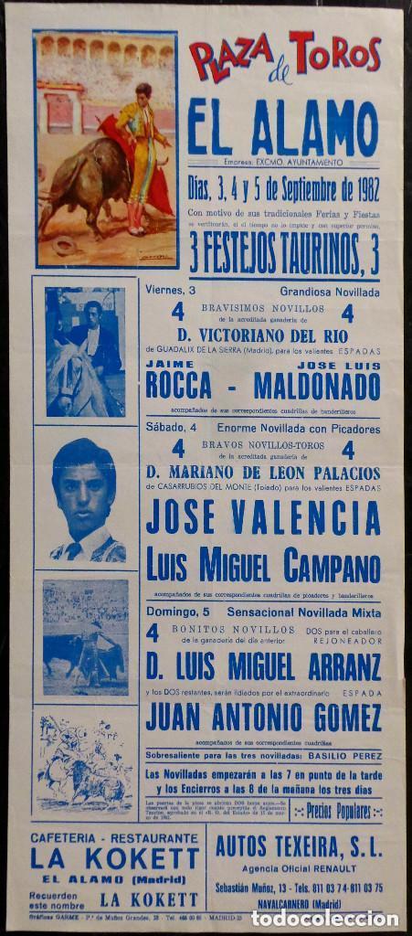 CARTEL PLAZA DE TOROS DE EL ALAMO - 1982 (Coleccionismo - Carteles Gran Formato - Carteles Toros)
