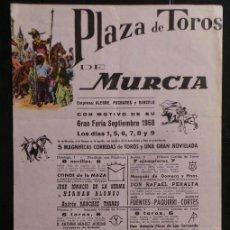 Carteles Toros: CARTEL PLAZA DE TOROS DE MURCIA - 1968. Lote 109099055