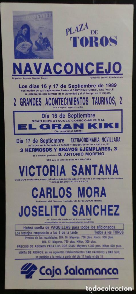 CARTEL PLAZA DE TOROS DE NAVACONCEJON - 1989 (Coleccionismo - Carteles Gran Formato - Carteles Toros)