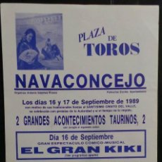 Carteles Toros: CARTEL PLAZA DE TOROS DE NAVACONCEJON - 1989. Lote 109099207